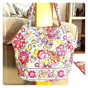💕 Vera Bradley red pink blue medium satchel 💕